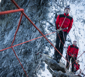 Bergführer im Einsatz an der Nadel der Kleopatra Bild: Thomas Senf
