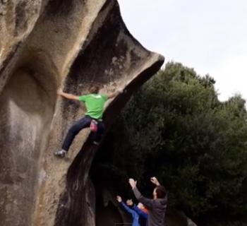 Highball Boulder auf Sardinien