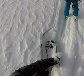 Gletscherspalte Snowboard