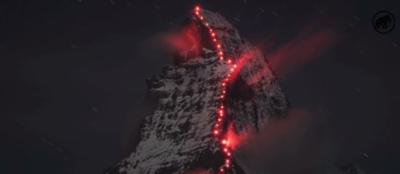 Lichtshow Matterhorn