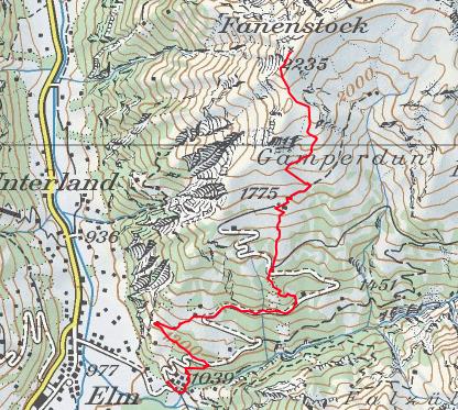 Aufstieg Fanenstock
