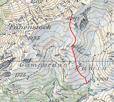 Abfahrt via Färispitz