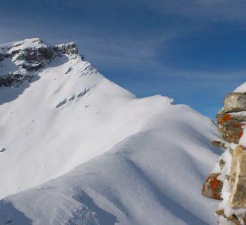 Der Piz Beverin vom Parpeinahorn aus gesehen Bild: David Isliker